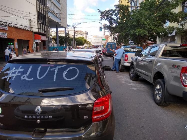 Motoristas fizeram passeata no bairro da Piedade   Leo Moreira   Ag. A TARDE - Foto: Leo Moreira   Ag. A TARDE