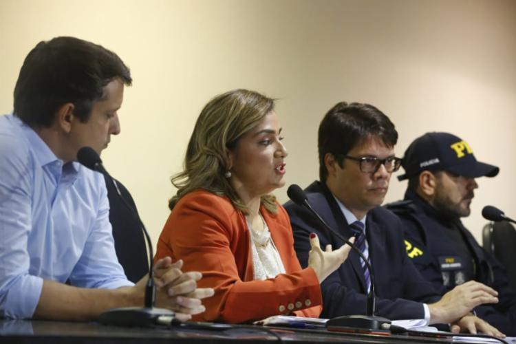 Coletiva realizada no Ministério Público | Rafael Martins | Ag. A TARDE - Foto: Rafael Martins | Ag. A TARDE