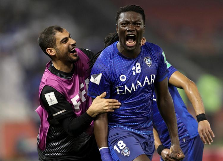 Time da Arábia Saudita venceu por 1 a 0 gol com do atacante Gomis | Foto: Karim Jaafar | AFP - Foto: Karim Jaafar | AFP