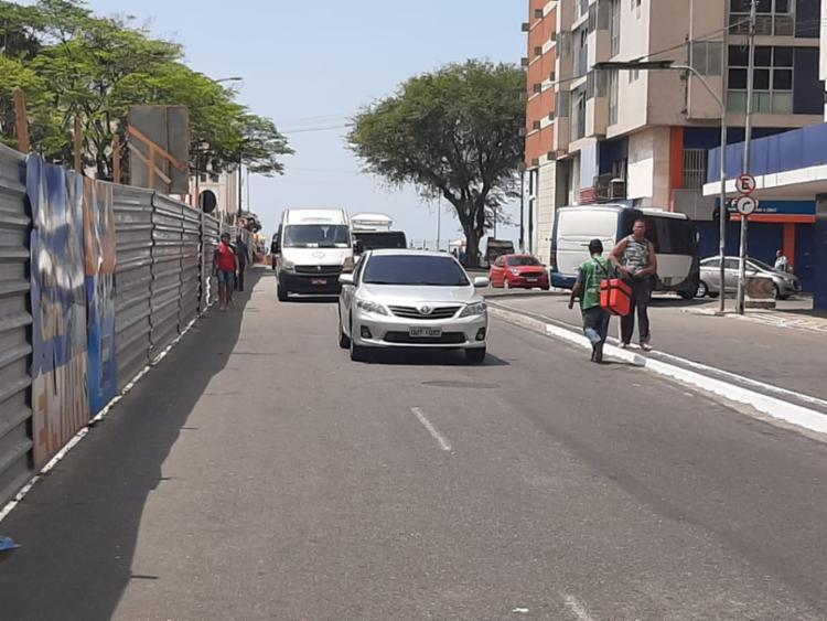 Praça Cairu se encontra em obras de revitalização | Foto: Reprodução | Cidadão Repórter via WhatsApp - Foto: Reprodução | Cidadão Repórter