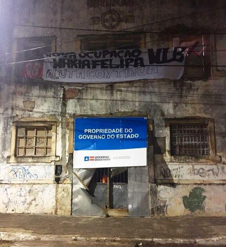 Mais de 200 pessoas estão ocupando o imóvel | Foto: Divulgação - Foto: Divulgação