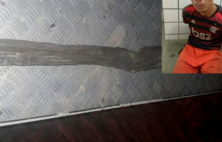 Suspeito foi preso em flagrante com base na Lei Maria da Penha | Foto: Reprodução | Teixeira Hoje - Foto: Reprodução | Teixeira Hoje