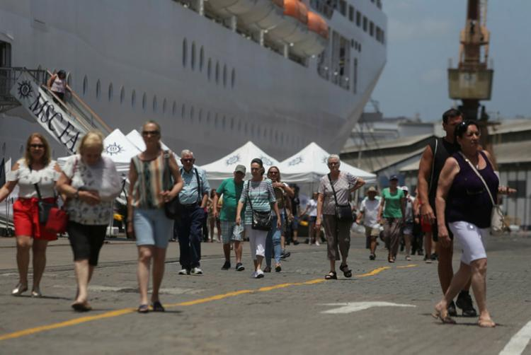 Número refere-se à projeção das embarcações já confirmadas para atracar no porto da capital baiana | Foto: Joá Souza | Ag. A TARDE - Foto: Joá Souza | Ag. A TARDE