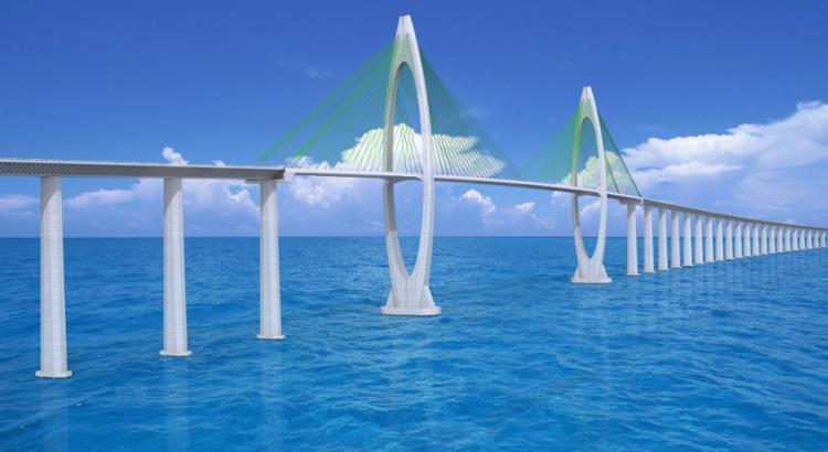 Ponte ligará a Via Expressa, em Salvador, a Gameleira, na Ilha de Itaparica | Imagem: Divulgação - Foto: Divulgação