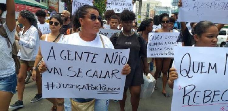 Protesto foi realizado no Centro da cidade   Foto: Paulo José   Acorda Cidade - Foto: Paulo José   Acorda Cidade