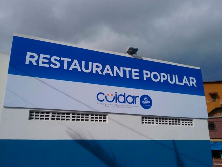 O espaço recebe mensalmente 7.050 cidadãos que fazem as refeições ao custo simbólico de R$1 | Foto: Divulgação - Foto: Divulgação