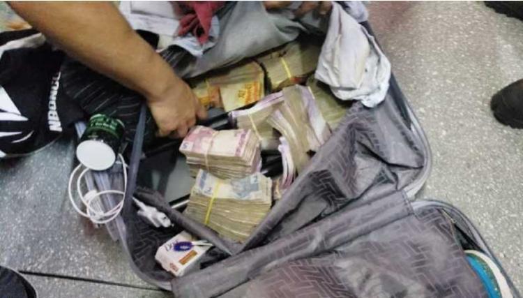 Grupo escondeu dinheiro em malas quando foram embarcar | Foto: Divulgação - Foto: Dinheiro