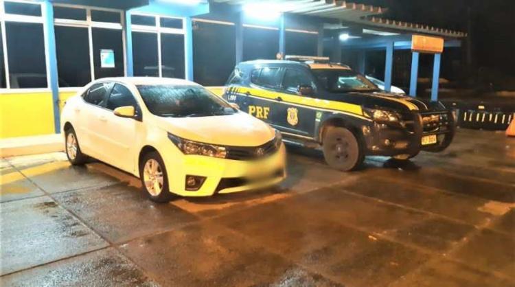 Equipe realizava fiscalização com foco no combate à criminalidade no Km 83 da rodovia, quando abordou o veículo | Foto: Divulgação | PRF - Foto: Divulgação | PRF