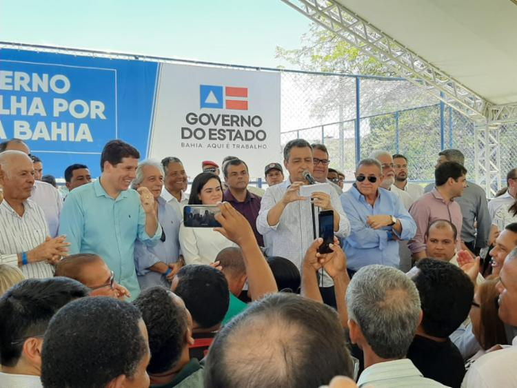 Governador durante evento nesta sexta-feira, em Jequié   Foto: Divulgação   GOV-BA - Foto: Divulgação   GOV-BA