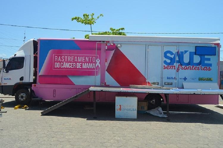 O projeto, promovido pela Secretaria da Saúde do Estado, utiliza unidades móveis para a realização de mamografias. - Foto: Divulgação
