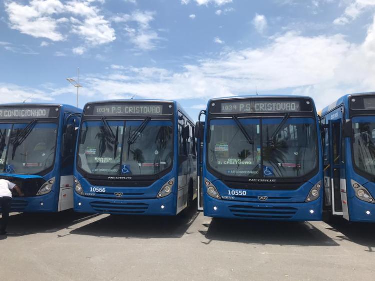 Informação sobre tarifa foi dada durante entrega de ônibus climatizados| Bianca Carneiro | Ag. A TARDE - Foto: Bianca Carneiro | Ag. A TARDE