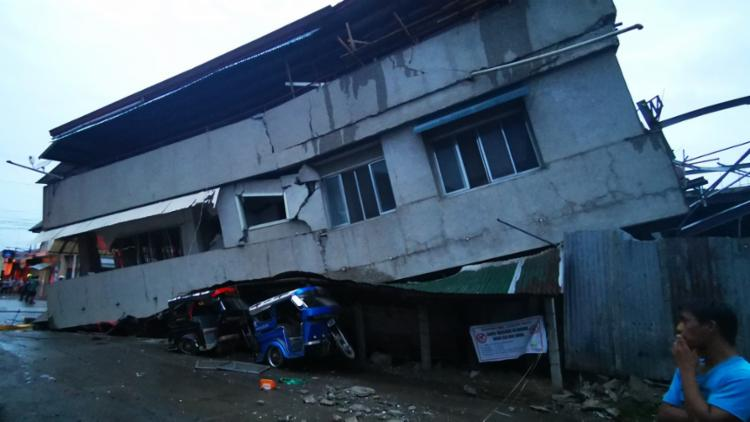 Este terremoto foi medido em 6,8 de magnitude | Foto: Ferdinandh Cabrera | AFP - Foto: Ferdinandh Cabrera | AFP