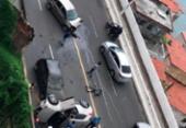 Acidente entre três veículos congestiona trânsito na Av. Contorno | Foto: Cidadão Repórter