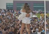 Claudia Leitte agita público durante inauguração do Centro de Convenções | Foto: Shirley Stolze | Ag. A TARDE