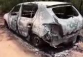 Corpo é encontrado dentro de carro incendiado em São Sebastião do Passé   Foto: Reprodução   TV Bahia