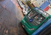 Ônibus cai em buraco e deixa trânsito lento na avenida Princesa Isabel | Foto: Juracy dos Anjos | Cidadão Repórter