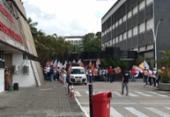 Servidores e sindicalistas fazem ato na AL-BA contra a PEC da Previdência | Foto: Reinaldo Oliveira | Reprodução