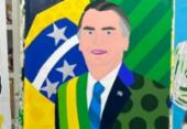 Romero Britto retrata Bolsonaro em quadro | Foto: Reprodução | Instagram