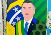 Romero Britto retrata Bolsonaro em quadro | Reprodução | Instagram