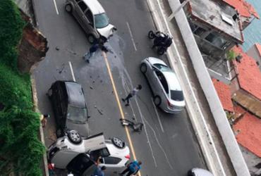 Acidente entre três veículos congestiona trânsito na Av. Contorno | Cidadão Repórter