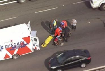 Acidente deixa motociclista ferido na BR-324 | Reprodução | Record TV Itapoan