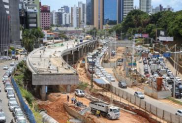 Trânsito e itinerário de ônibus são alterados na av. ACM por conta de obras do BRT | Divulgação
