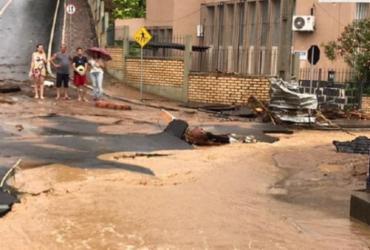 Chuva deixa cenário de destruição e cerca de 30 famílias desalojadas em Ubaíra | Reprodução