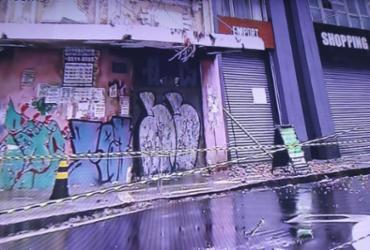 Parte de prédio histórico desaba no bairro do Comércio | Reprodução | TV Bahia