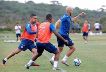 Com treino tático, Roger esboça Bahia para estreia no Nordestão | Felipe Oliveira | EC Bahia
