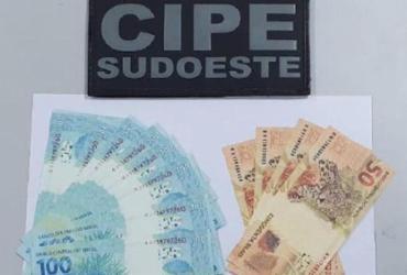 Homem é preso com dinheiro falsificado | Divulgação | SSP