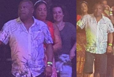 Fernanda Souza assiste show de Thiaguinho ao lado dos pais do cantor | Divulgação