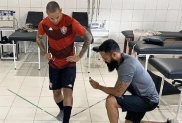 Gabriel Furtado chega e realiza exames na Toca do Leão | Divulgação | EC Vitória