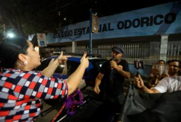 Bolsonaristas e estudantes discutem durante protesto no Odorico Tavares | Felipe Iruatã | Ag. A TARDE