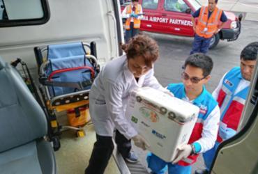 Brasil envia pele humana para vítimas de acidente no Peru | Divulgação | Ministerio de Salud del Perú