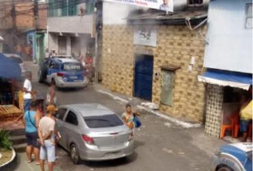 Policial militar é baleado após equipe ser recebida a tiros em São Marcos | Reprodução | WhatsApp