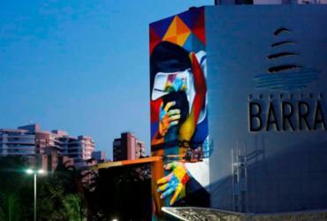 Santa Dulce dos Pobres vira arte de Eduardo Kobra na fachada do Shopping Barra | Rafael Martins | Ag. A TARDE
