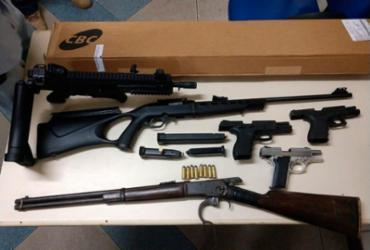 Suspeitos armados são presos em Camaçari | Divulgação | SSP