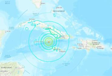 Forte terremoto no Caribe ativa alerta de tsunami | Reprodução | USGS