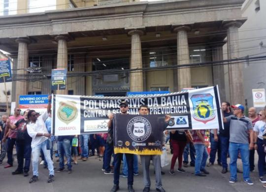 Policiais civis e penais iniciam paralisação de 48h; grupo tenta novo acordo na AL-BA | Divulgação | Sinspeb