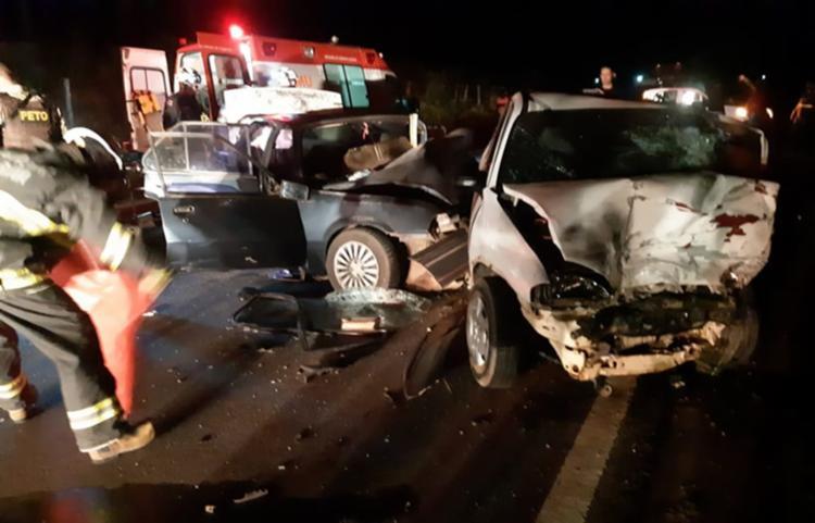 Três pessoas ficaram feridas, sendo duas em estado grave | Foto: Reprodução | Teixeira Hoje - Foto: Reprodução | Teixeira Hoje