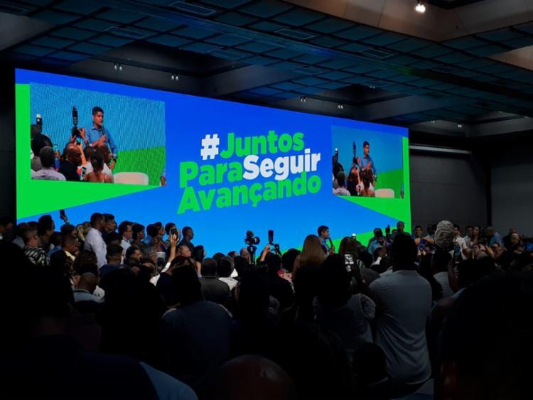 Lançamento de candidatura aconteceu no Hotel Fiesta | Aparecido Silva | Ag. A TARDE - Foto: Foto: Aparecido Silva | Ag. A TARDE