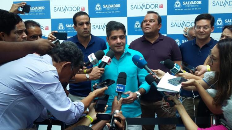 Solenidade acontece no dia do aniversário do prefeito de Salvador | Foto: Shirley Stolze | Ag. A TARDE - Foto: Shirley Stolze | Ag. A TARDE