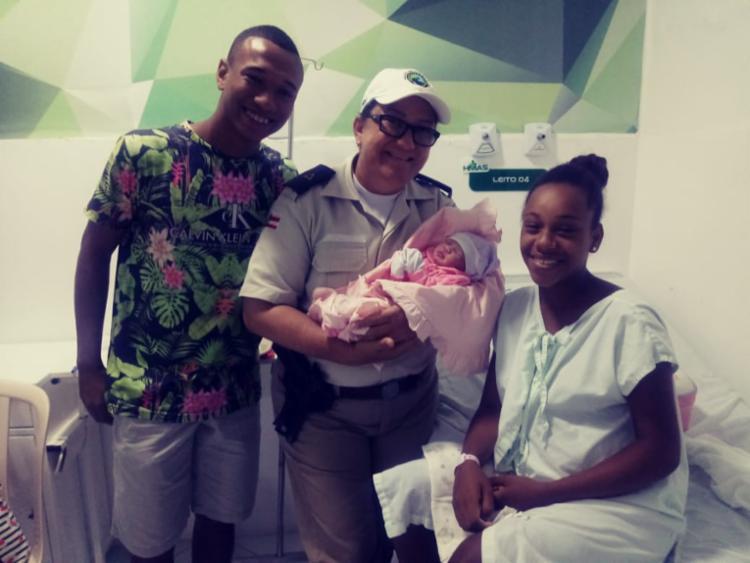 Após parto, mãe e bebê foram levadas para uma unidade de saúde | Foto: Divulgação | PRE - Foto: Divulgação | PRE