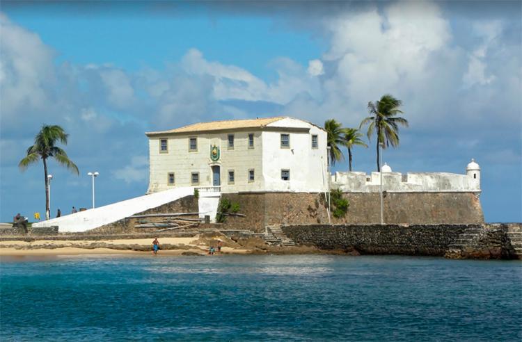 Afogamento aconteceu nas imediações do Forte de Santa Maria   Foto: Reprodução   Google - Foto: Reprodução   Google