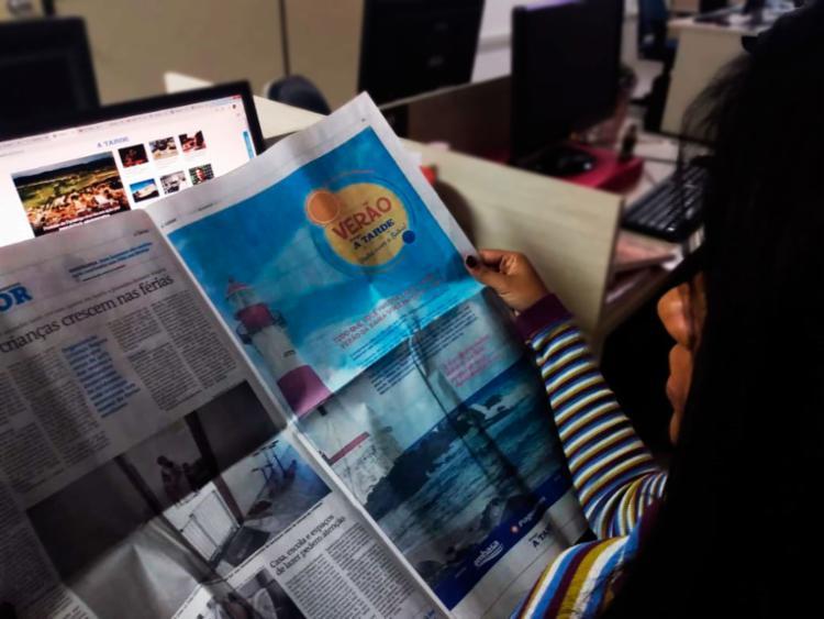 Leitor conta ainda com todos os benefícios da assinatura | Foto: Keyla Pereira | Ag. A TARDE - Foto: Keyla Pereira | Ag. A TARDE