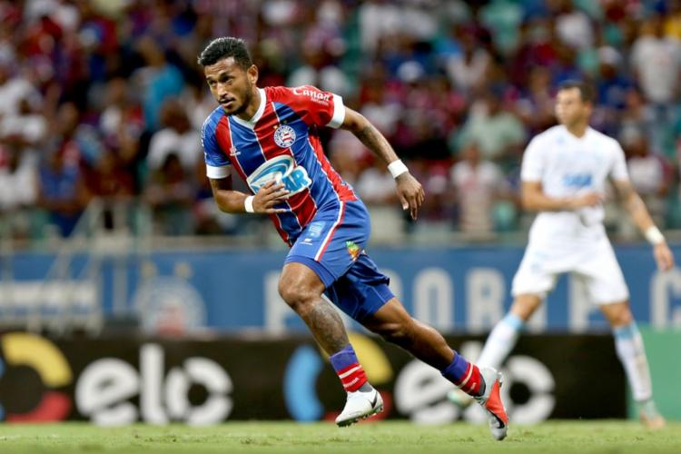 Atacante chegou em janeiro do ano passado e disputou 26 jogos | Felipe Oliveira | EC Bahia - Foto: Foto: Felipe Oliveira | EC Bahia