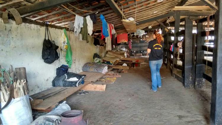 Trabalhadores resgatados viviam em condições precárias   Foto: Divulgação   SRTE - BA - Foto: Divulgação   SRTE - BA