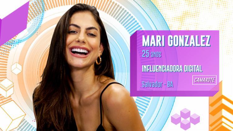 Influenciadora Mari Gonzalez é a única baiana na casa | Foto: Divulgação | Gshow