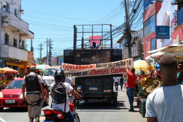 Ato percorreu ruas do bairro | Foto: Patrick Ribeiro | Fala Cajazeiras