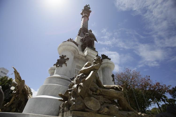 No restauro do monumento ao Dois de Julho, no Campo Grande, foram repostos 250 quilos de bronze